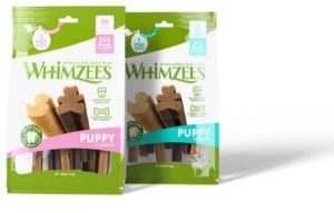 Whimzees Puppy Dental Treats packaging